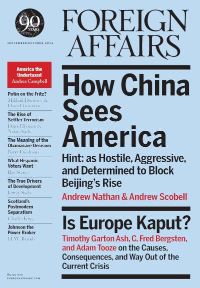 From foreignaffairsmagazine:  The September/October issue of Foreign Affairs is now online! Kindle, NOOK, and Google Play subscribers can also access the new issue on their devices.