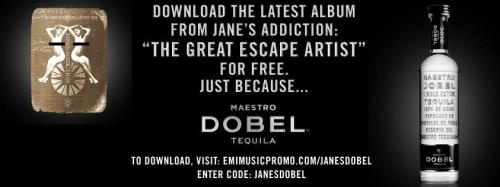 Have you downloaded the latest Jane's Addiction album? It's on us… Visit http://www.emimusicpromo.com/janesdobel/ and enter promo code: JANESDOBEL. Enjoy. Salud!