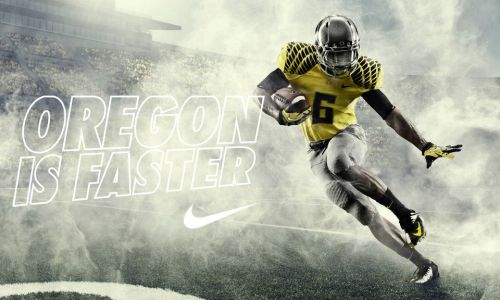 Oregon Football: New 'Oregon Is Faster' Jerseys Announced and Unveiled Look at these bad boys. Are there even any need for words? Some necessary information to know about the uniforms:   Strength: The armored wing design rests on a new high tenacity material engineered for maximum lock down strength. Lightweight: Chain Maille Mesh is used in strategic cooling zones throughout the uniform for unprecedented thermoregulation and lighter weight without sacrificing strength. Lockdown fit: Flywire technology in the collar eliminates layers, reducing weight and providing a lockdown fit in a uniform tailored to minimize grab points. Minimized weight: The Nike Pro Combat System of Dress reduces weight in every detail, even down to the aircraft grade aluminum D-ring belt. Impact Protection: Nike Deflex padding built directly into the pant adds lightweight impact protection at the hip, and complements the base layer garment in Nike's lightest and most flexible uniform to date.    Information via Oregon Football facebook page. For more information on the technical aspects of the uniforms, click here. So Oregon fans … what do you think? #GoDucks
