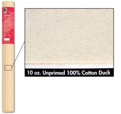 Canvas Rolls. Primed or unprimed, available in different weights and widths, 6 yards long. The most economical way to paint on canvas, if you know how to stretch your own. You can also staple it to a wall and work very large.  Available by special order at The Drawing Board.