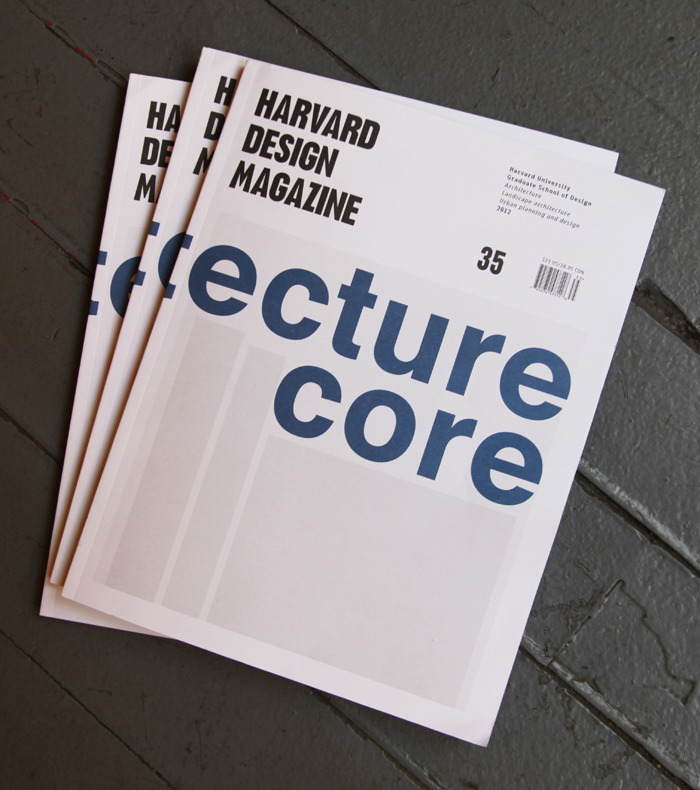 Harvard Design Magazine 35: Architecture's Core? What does it mean to speak of a particular design discipline today? While past issues of Harvard Design Magazine have explored the intersection of various design fields, Issue 35 examines architecture as a distinct discipline. Investigating architecture's values, methodologies, and pedagogical techniques, Architecture's Core? asks how the field of architecture should respond to societal and technological transformations.
