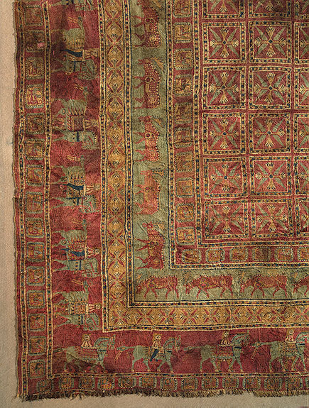 Pile Carpet Pazyryk Culture, 5th-4th century BC The Hermitage Museum