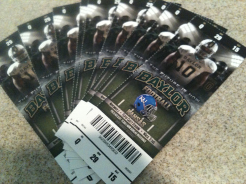 Baylor Homecoming Tickets!!!