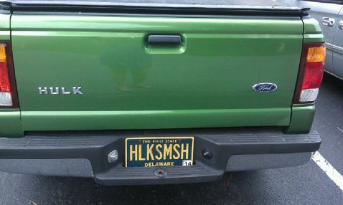 collegehumor:  Hulk Truck You wanna know my secret? I always have road rage.