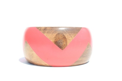 Stained wooden bangle from Etsy.  <3