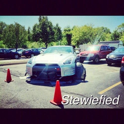 Wrecked GTR #gtr #skyline #jdm #godzilla  #nissan  (Taken with Instagram)