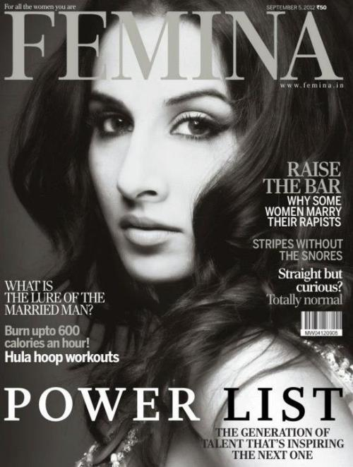 Vidya Balan on the Cover of Femina – September 2012