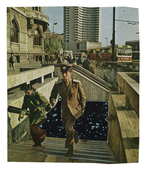 From Space. (Handmade Collage)