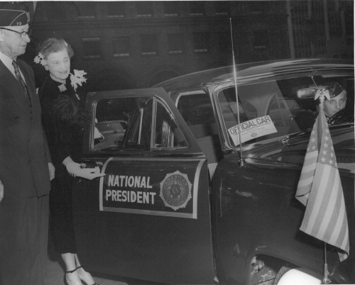 The National President's car at the 34th National Convention, 1952