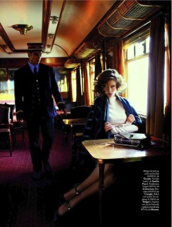 "telojuropordior:  Elle Spain September 2012.  ""Journey into the past""."
