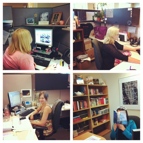 Random House Canada, hard at work.