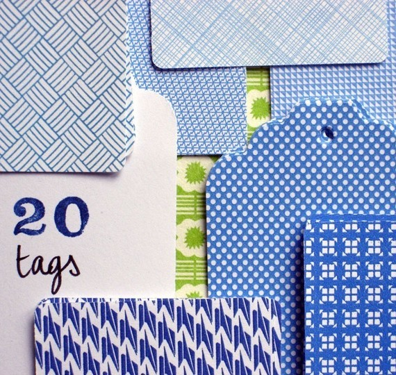 (via Blue paper Tags set of 20 by petitefabrique on Etsy)