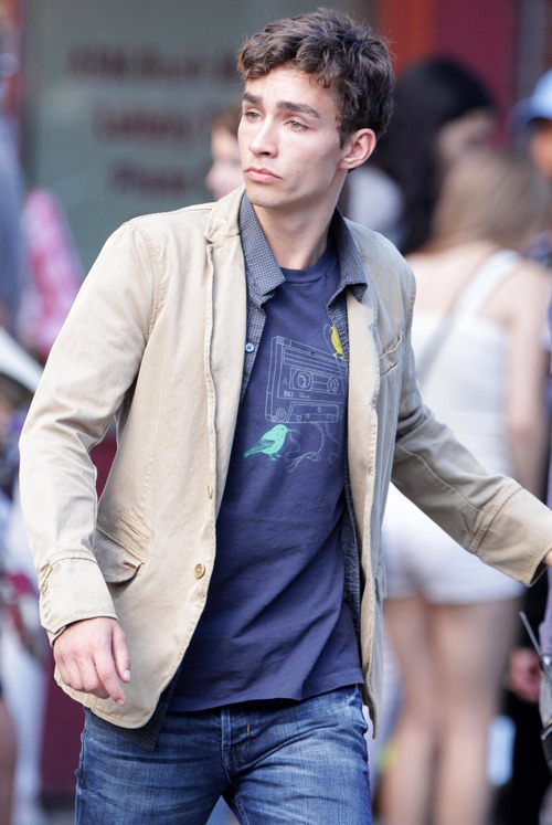 Robert Sheehan on set filming 'Mortal Instruments: City of Bones' in Toronto, Canada (August 21)  !!!!!!!!!!!!!!!!!!