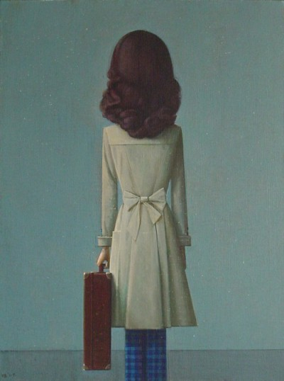 darksilenceinsuburbia:  Liu Ye. Going, 2008. Acrylic on canvas, 60 x 45 cm. Private collection.  chicago today, croatia on saturday.