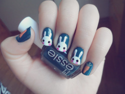i-am-infinitely-nails:  토끼 Bunny Nails