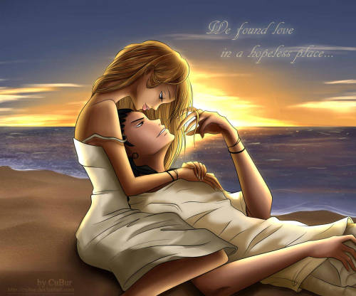 My sister drawing.. Tom and Ria on Sunset :)) For more information … http://cubur.deviantart.com/#/d5c5mmf *Tom Kaulitz & Ria Sommerfeld