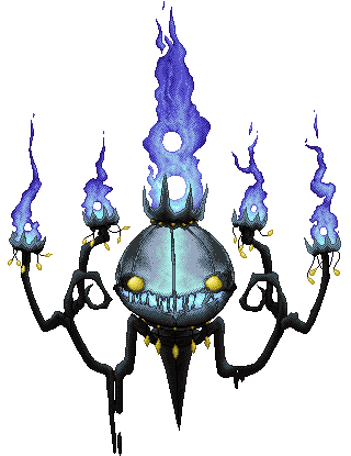 susfishcious:  all-the-pokemon:  Chandelure  DANG THOSE ARE PIXELS?