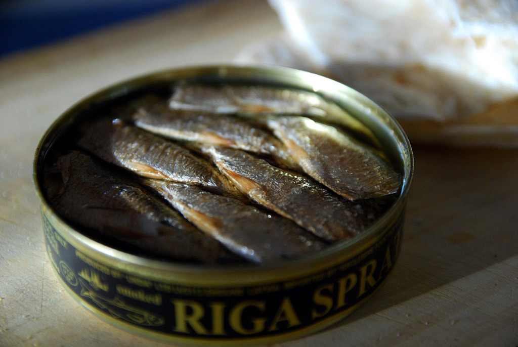My new obsession: Latvian Sprats in oil. Smoky, salty, strangely beautiful, and a lot of fun to say, too. Thanks to my stomach's soul mate, Russ & Daughters.