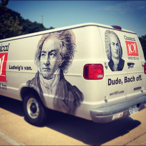 I love this idea!!! Ludwig's Van.  Dude, Bach Off!!