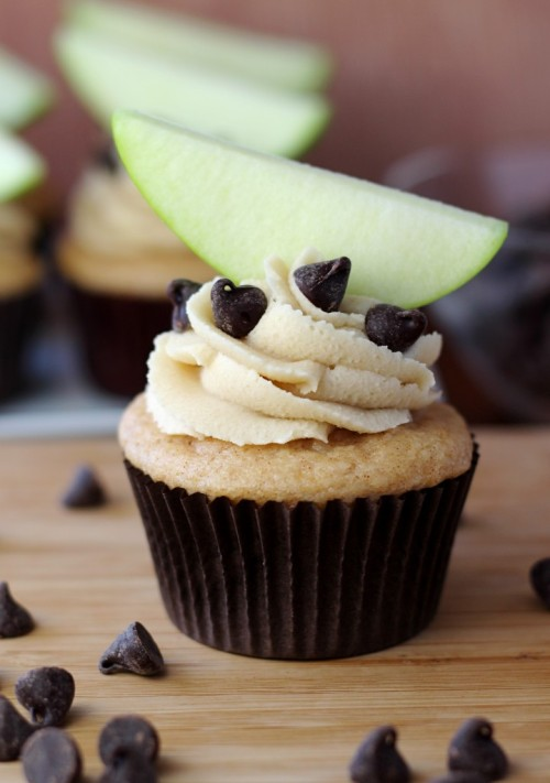 Apple Cookie Dough Cupcakes  http://www.yourcupofcake.com/2012/04/apple-cookie-dough-cupcakes.html