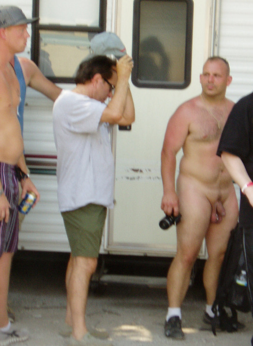 housebearsofatlanta:  The chubby nude guy is so hot but totally ruined his hotness by not just shaving but also shaving a thin line of fur like a happy trail in his pubic region! Dude a Brazilian wax ? Why would you fuck it all up with that gay shit