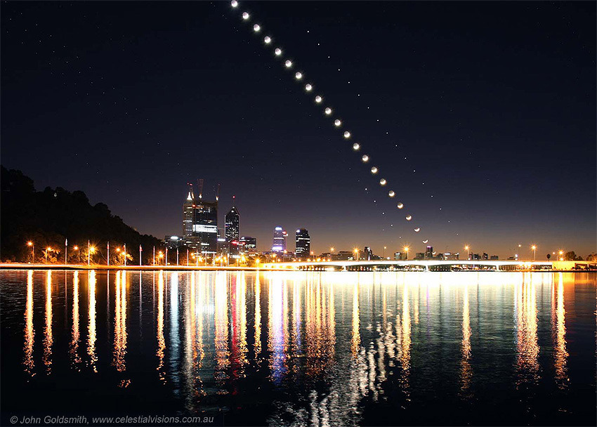 ikenbot:  Moon and Planets above Perth  Hello hometown!!