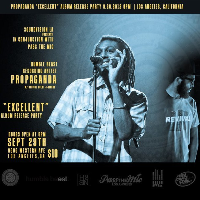 "Hey Los Angeles, mark you calendars for SEPTEMBER 29 » @prophiphop's ""Excellent"" Album Release Party"