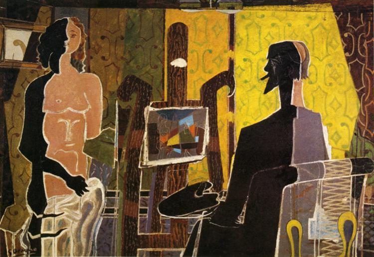 Georges Braque, The Painter and His Model, 1939