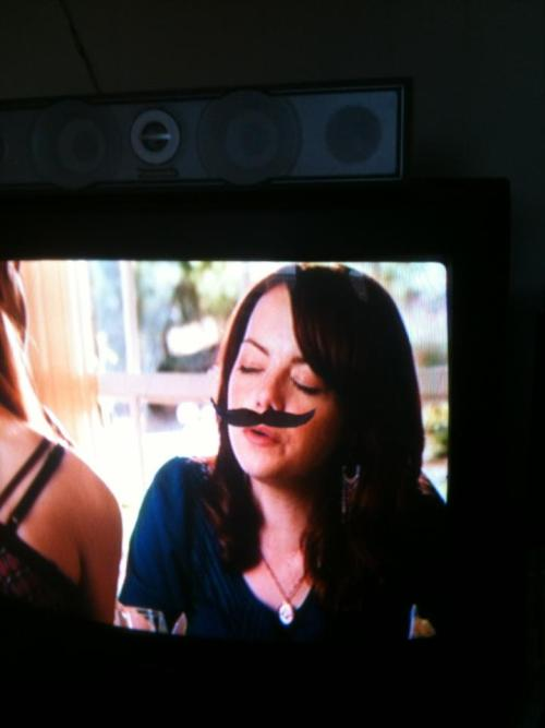 brownley:  Best movie drinking game: Attach a mustache to the screen. Drink when it lines up.