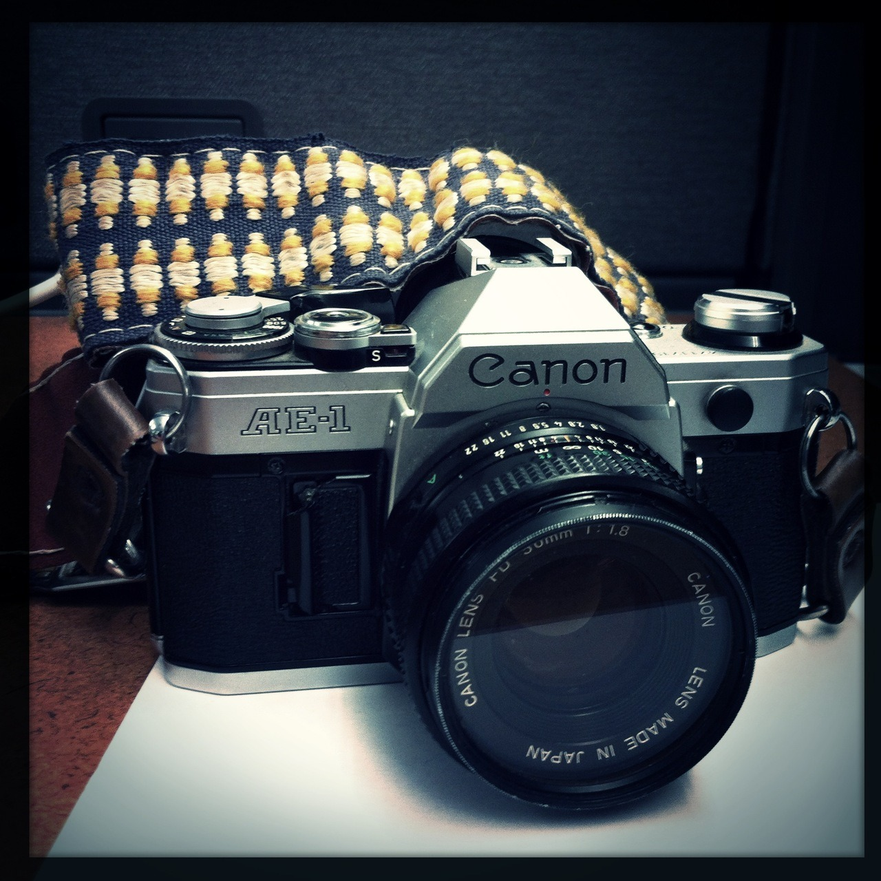 My latest thrift store camera acquisition: A Canon AE-1. Fully functional, if well used; $20. Wonder Lens, W40 Film, No Flash, Taken with Hipstamatic