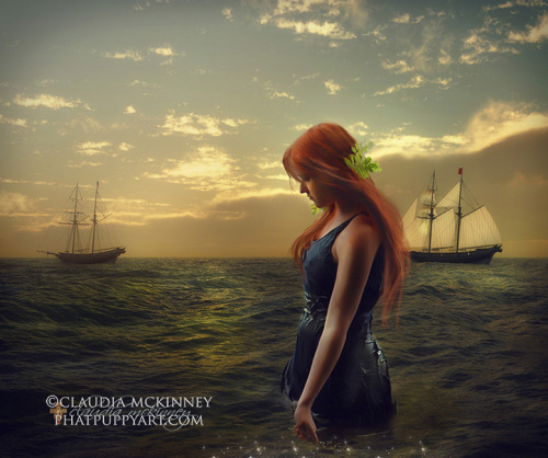 "phatpuppyart:  ""Island Girl"" with http://eirian-stock.deviantart.com and my own resources ©Phatpuppyart.com Facebook http://facebook.com/phatpuppyartist"