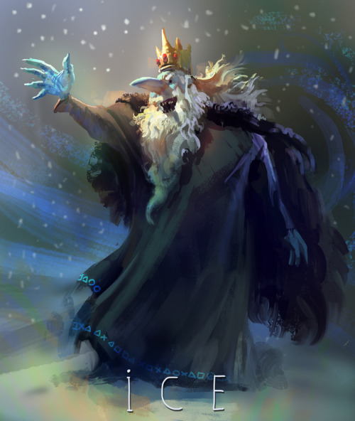 all-about-villains:  Ice King! - by Mike Azevedo Artist's Website | Blog