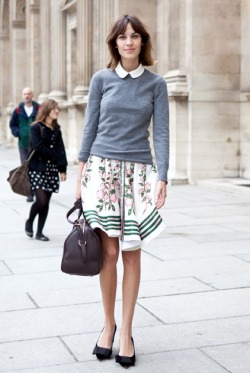 modcloth:  Alexa Chung in a beautifully bookish outfit (via Who What Wear.com)