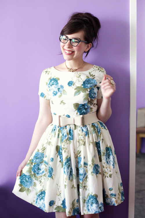 modcloth:  Keiko of Keiko Lynn in the Beauty in the Air Dress in Delphinium