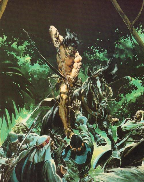 swordandsorcerytales:  Tarzan by Neal Adams.