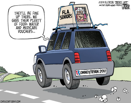 barrybecause:  Cartoon of the day #4 | Romney-Ryan and Seniors Citizens  |  BARRY 2012