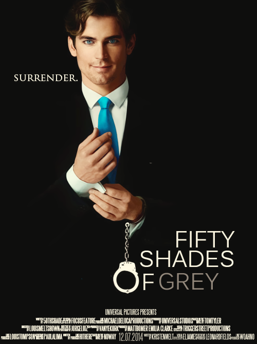 50thshade:  Fifty shades of gray fanmade poster -  Oh my. I love my edit JDFLSÇKDOSKDIÇKLSJNHDSJ