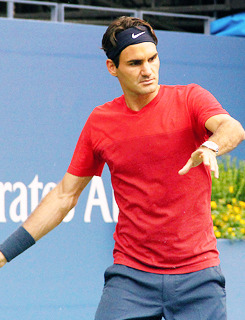 Roger trainning with Gasquet today for the US Open