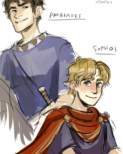 Useless the Elder and Useless the Younger (Assuming Sophos is probably the palest since he's an aristocrat and a scholar)