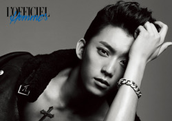 B1A4's Maknae Gongchan for L'Officiel Homme.