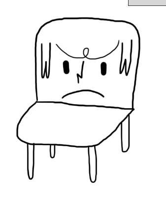 janemai:  seibei:  quick doodle of Jane Mai as a chair, as suggested by Mia.   i am chair