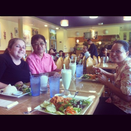 Anna's early birthday dinner with her adopted Asian parents haha! ☺👍🍜 #vietnamese #food #foodstagram #instagood #iphonography #birthday #funny  (Taken with Instagram)