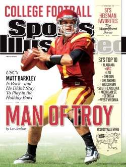 Matt is the 10th USC QB to be featured on the cover of Sports Illustrated. This is Matt's first appearance on the cover of SI.