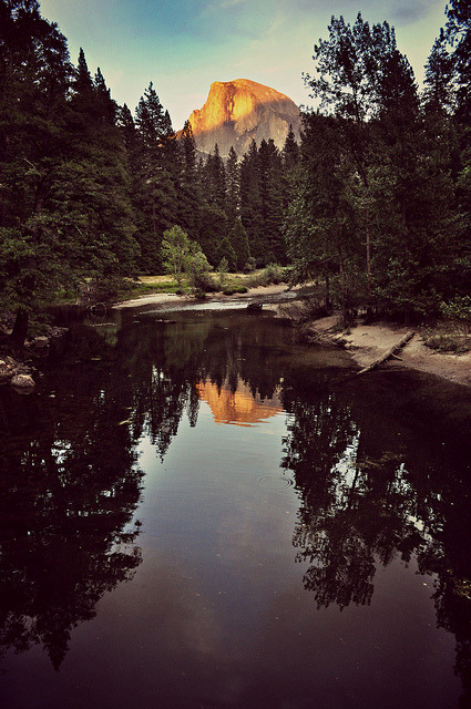 Sunset on Half Dome (Explored) by mich&pics on Flickr.