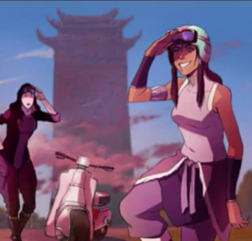 Korra and Asami explorin'