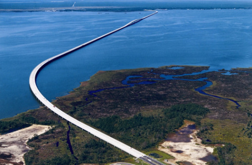 intracoastal-wanderings:  Virginia Dare Memorial Bridge Outer Banks, NC