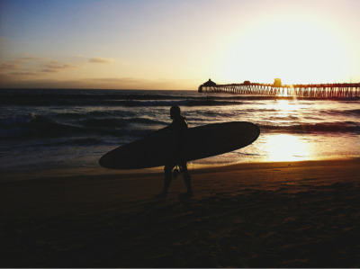 Imperial beach  Sunset Surfer