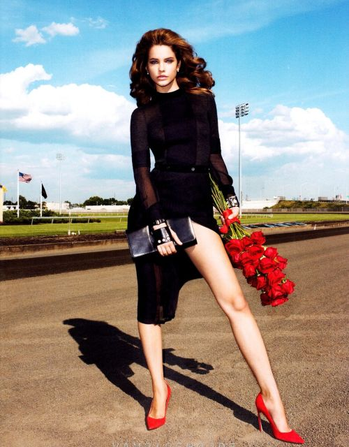 Legspiration.  Barbara Palvin photographed by Terry Richardson for Harper's Bazaar, September 2012 suicideblonde: