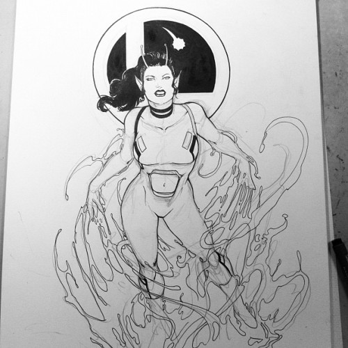 danielhdr:  WIP:#chameleongirl #commission #legionofsuperheroes #dccomics #comics (Taken with Instagram at NYCC-Commission List Open)