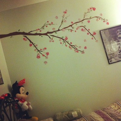 Cute ass cherry blossom decal in my room now 🌺🌸 (Taken with Instagram)